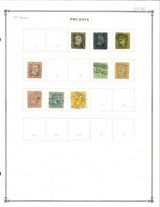 Prussia (German State) 1850-1858 Used Hinged on a Blank Scott Int.Page