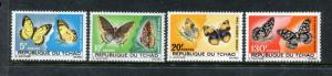 Chad 139-142, MNH, $32.25. Michel 174-177. Butterflies 1967. x24058