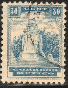 MEXICO 847 30c 1934 Definitive Wmk Gobierno...279 Used (1020)