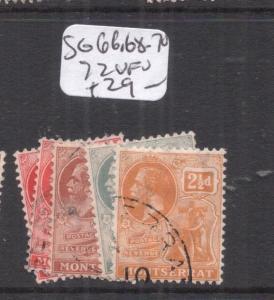 Montserrat SG 66, 68-70, 72 VFU (7dly)