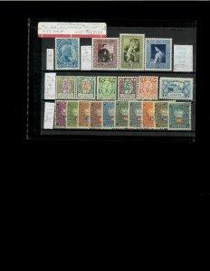 Liechtensein #'s 3,74,76-80,228-230 MH & O37-O46 used