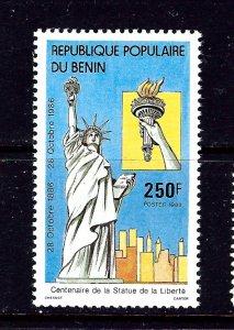 Benin 635 MNH 1986 Statue of Liberty