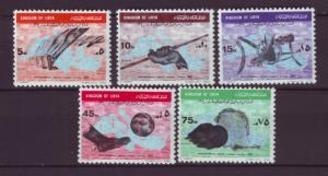 J19897 Jlstamps 1967 libya set mnh #320-4 map