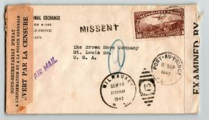 Haiti 1942 Dual Censor Cover to USA (II) - Z13656