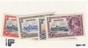BERMUDA # 100-103 VF-MNH 1935 KING GEORGE V SILVER JUBILEE  CAT VALUE $35