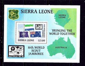 Sierra Leone 928 MNH 1987 Boy Scouts S/S