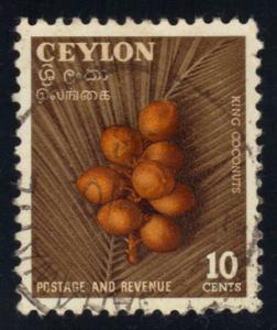 Ceylon #329 King Coconuts, used (0.25)