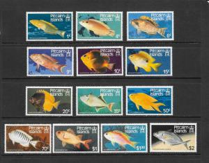 FISH - PITCAIRN ISLANDS #231-243  MNH
