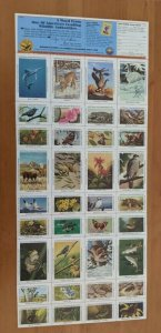 1986 National Wildlife Federation-Conservation Stamps  MNH Full Sheet of 36