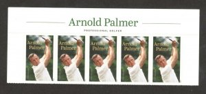 5455 Arnold Palmer Header With 5 Stamps Mint/nh FREE SHIPPING