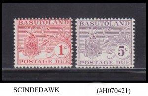 BASUTOLAND - 1964 POSTAGE DUE STAMPS SCOTT#J9-J10 - 2V HINGED