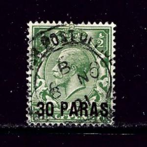 Great Britain offices in Turkey 55 Used 1921 issue pulled perf