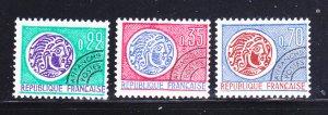 France 1240-1242 Set MNH Coins On Stamps