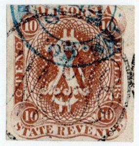 (I.B) US Revenue : Duty Stamp $10 (California)