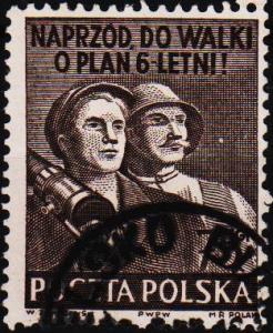 Poland. 1950 75g S.G.696b Fine Used