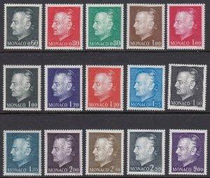Monaco 933-47 Prince Rainier III mnh