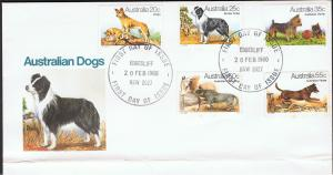 AUSTRALIA 1980 AUSTRALIAN DOGS FIRST DAY COVER