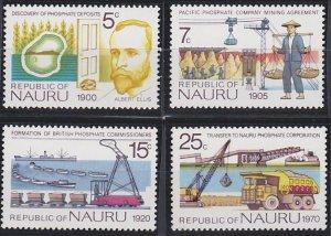 Nauru 120-123 MNH (1975)