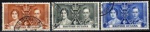 British Guiana #227-9   F-VF Used CV $3.05 (X986)