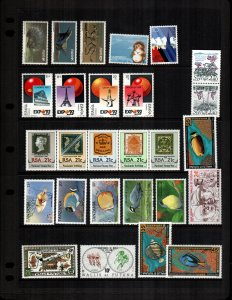 world   25  diff MNH