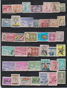 LOT OF DIFFERENT STAMPS OF  BOLIVIA  USED (39) LOT#135
