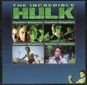 MADAGASCAR 2021 THE INCREDIBLE HULK SHEET MINT NEVER HINGED