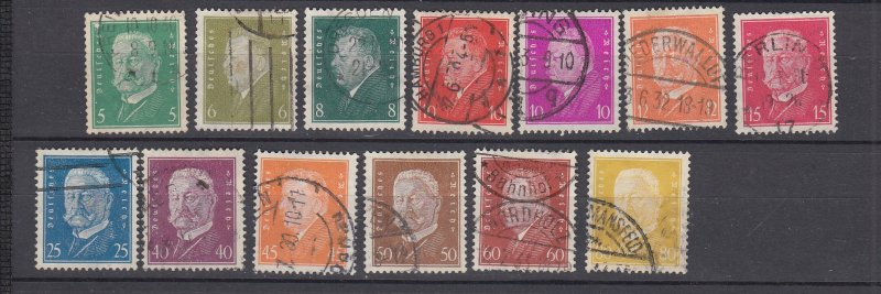 J28723, 1933 various nazi germany parts of set used #368//384 hindenburg