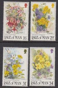 Isle of Man 340-3 Wildflowers mnh