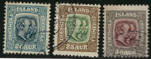 Iceland #79, 80, 82 Used Avg/VF  ....Chance to buy a real Bargain!