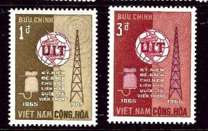 South Vietnam 253-56 MNH 1965 Int'l Telecommunications Union    (ap3358)