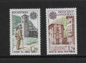 ANDORRA (FR)  #269-70  EUROPA 1979 MNH