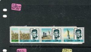 QATAR (PP0209B)   KENNEDY  SG 118A-121A    MNH