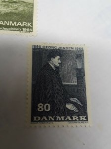 Denmark Mint Hinged 1966 Stamps