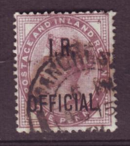 J13765 JLstamps 1882-5 great britain used #o4 inland revenue ovpt