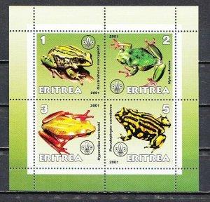 Eritrea, 2001 Cinderella issue. Frogs sheet of 4. *