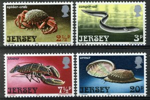 Jersey 1973, Life of the sea set VF MNH