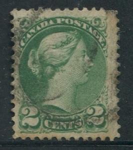 Canada -Scott 36 - Queen Victoria -1872 - Used - Single 2c Stamp