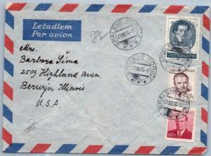 GOLDPATH: CZECHOSLOVAKIA COVER 1953, TO U.S.A.     _CV31_P21