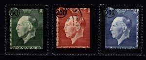 Greece 1947 King George II Mourning, Surch. and black border, Set [Used]