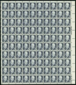 Dwight David Eisenhower Sheet of 100 Eight Cent Postage Stamps Scott 1393