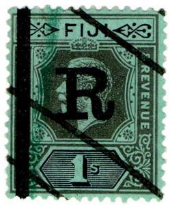 (I.B) Fiji Revenue : Stamp Duty 1/- (1914)
