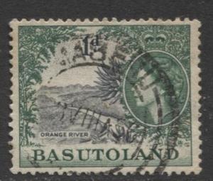 Basutoland - Scott 47 - Orange River Issue -1954 - Used - Single 1d Stamp