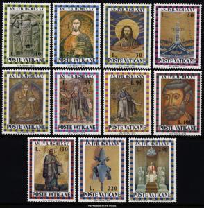 Vatican City Scott 561-571 Mint never hinged.