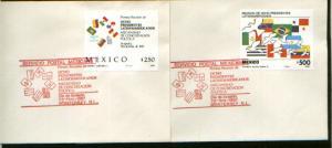 MEXICO 1527-28, 2FDCs Meeting Eight Latinamerican Presidents