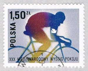 Poland 2214 Used Bicyclist 1977 (BP41405)