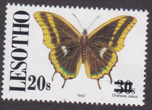 Lesotho # 1063, Butterfly Stamp Revalued, NH