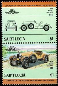 St Lucia #741  MNH - Classic Cars Vintage Automobile Kissel Goldbug (1985)