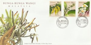 2001 Scented Flowers of Malaysia (Series I) FDC SG#1005-1007