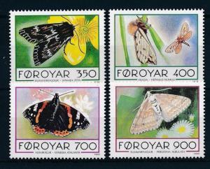 [28427] Faroe Islands 1993 Animals Butterflies MNH