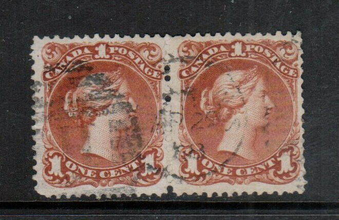 Canada #22 Very Fine Used With Halifax H Grid & CDS April 29 1868 Cancel